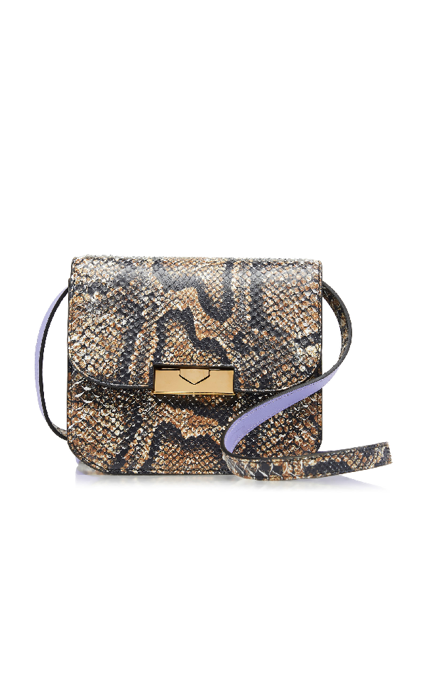 Victoria Beckham Eva Python Shoulder Bag