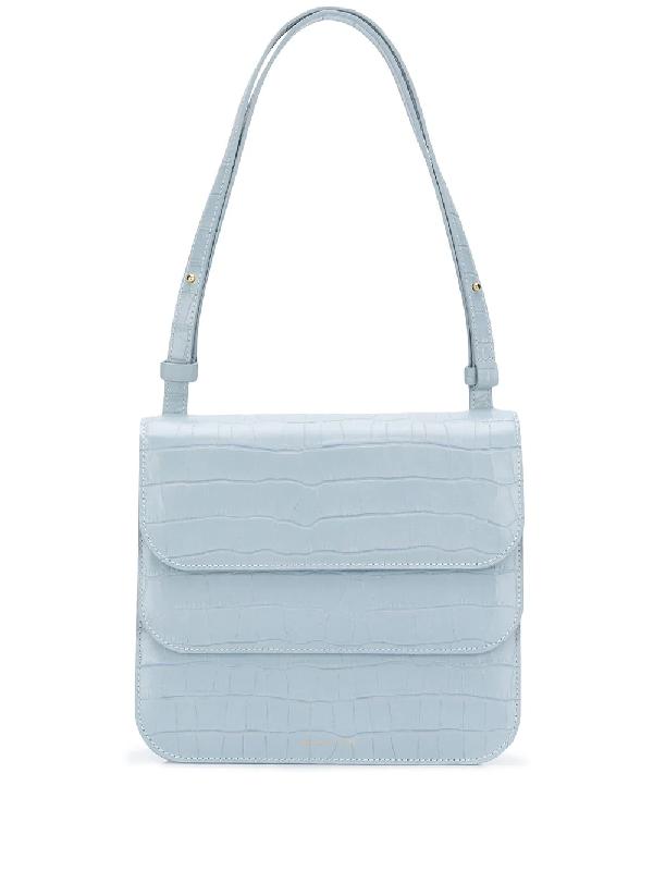 Rejina Pyo Ana Croc-Effect Leather Shoulder Bag In Blue