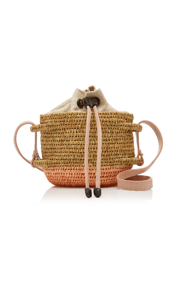 Khokho Thembi Straw Shoulder Bag In Neutral