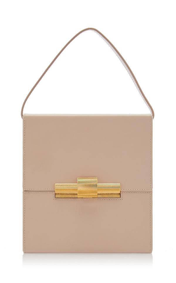 Bottega Veneta Leather Shoulder Bag In Neutral