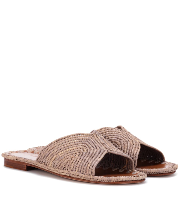 Carrie Forbes Raffia Sandals In Neutrals