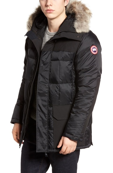 588a0175074b Canada Goose Callaghan Genuine Coyote Fur Trim Slim Fit Down Parka In  Black. Nordstrom