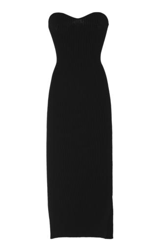 Khaite Loie Ribbed Stretch-Knit Midi Dress In Black