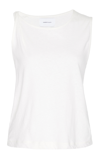 Current Elliott Tied Up Asymmetric Linen And Cotton-blend Top In White