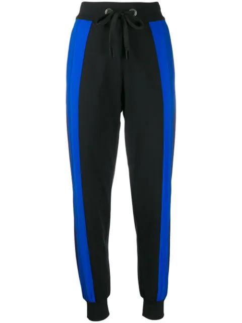 No Ka'oi Colour-block Track Trousers In Black