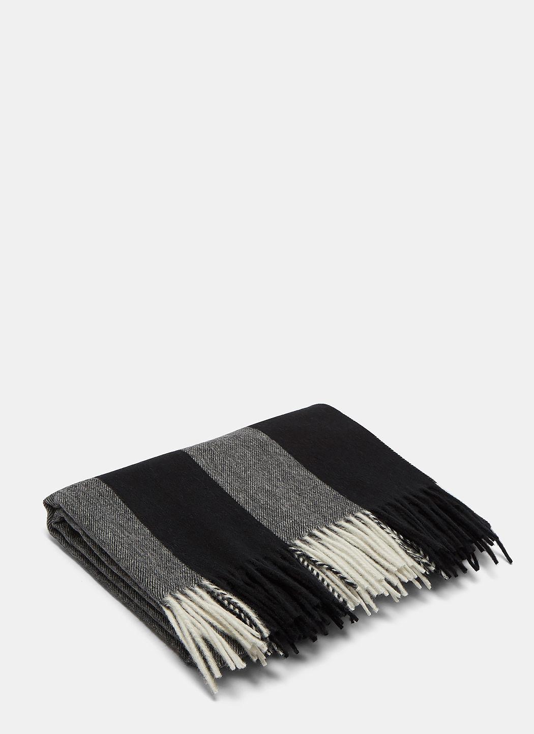 Acne Studios Canada Bengal Stripe Wool Scarf In Grey