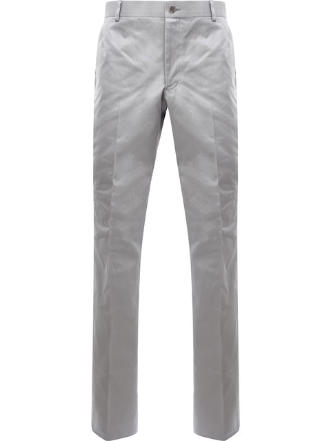 Thom Browne Chino Trousers In Grey