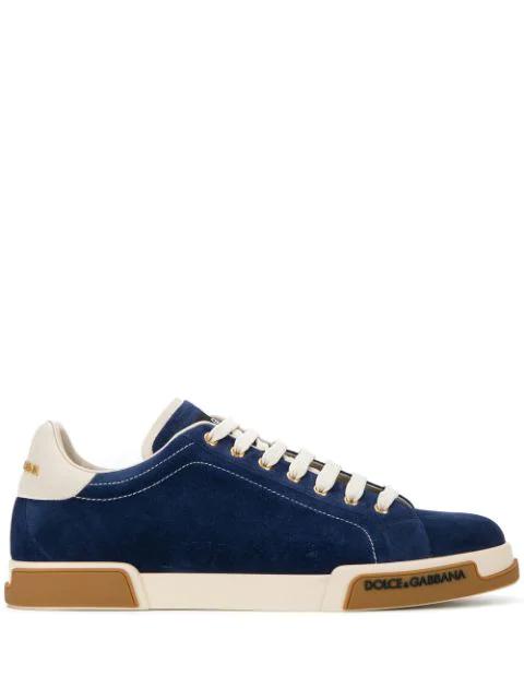 Dolce & Gabbana Miami Sneakers In 8M092 Blue/Ice