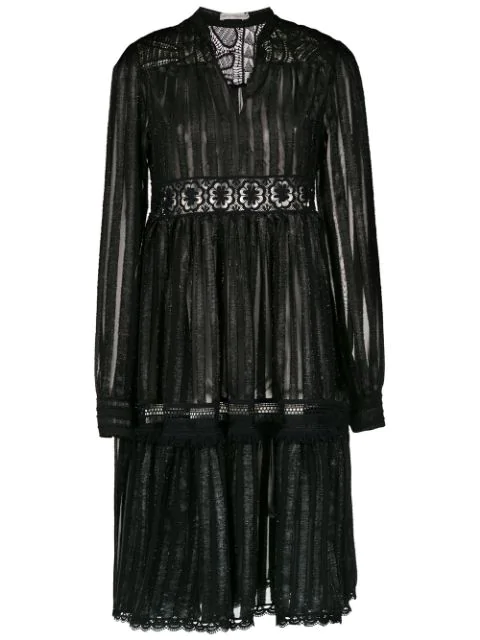 Martha Medeiros Striped Dress In Black