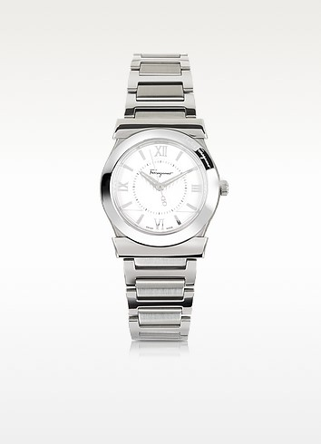 Salvatore Ferragamo Vega Silver Tone Stainless Steel Women's Watch