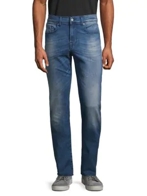 7 For All Mankind Luxe Performance Slim-fit Jeans In Blue