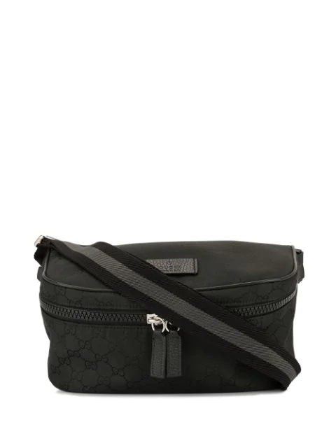 Pre-owned Gucci Gg Pattern Bum Bag In Black