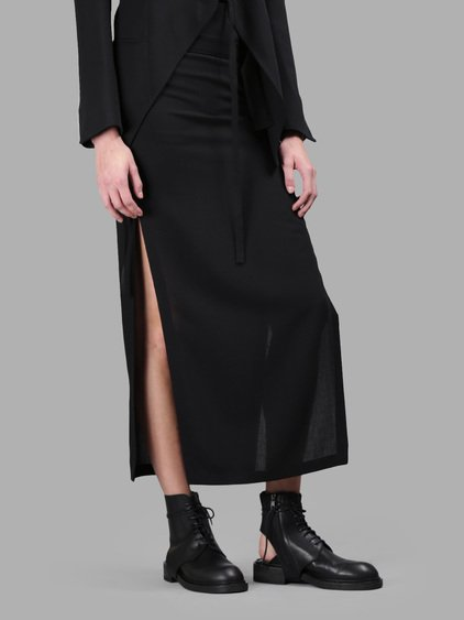Ann Demeulemeester Black Skirt