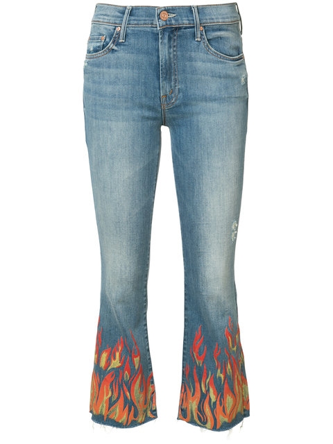 Mother Blue 'insider' Crop Fray Jeans