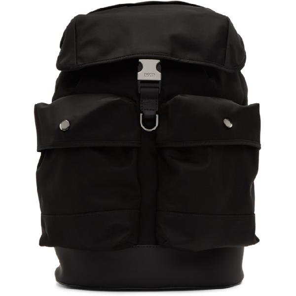 Hugo Boss Boss Black Multi-pocket Backpack In 001black