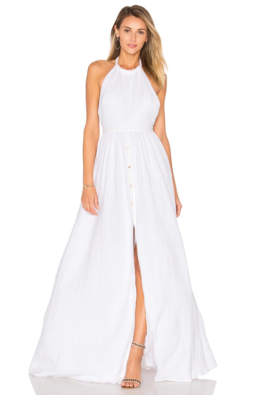 Mara Hoffman Organic Cotton Backless Dress In White