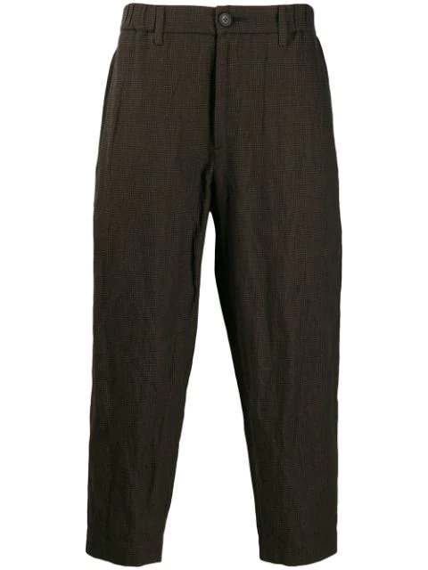 Ziggy Chen Straight-fit Trousers In Brown