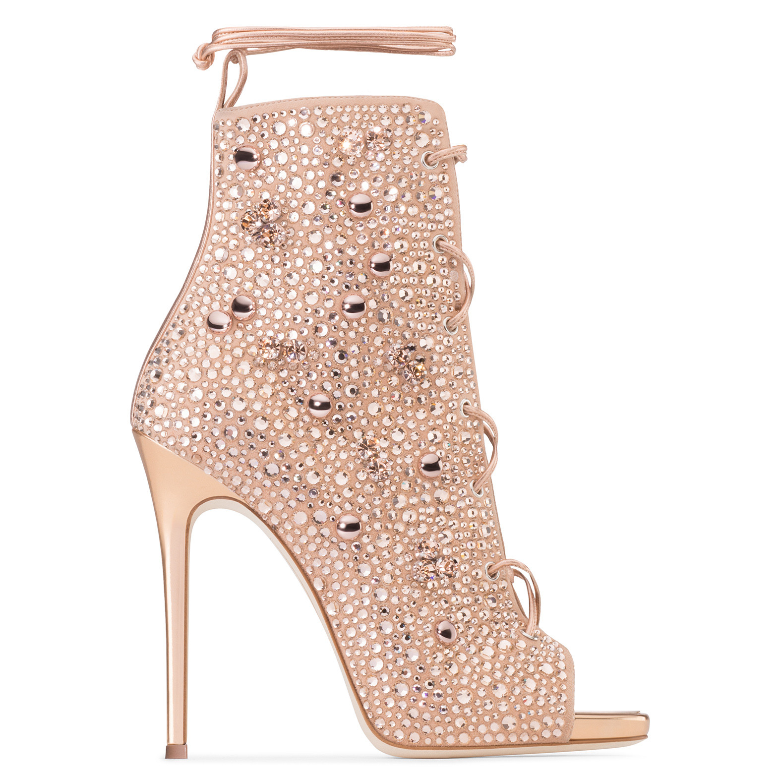 40ef2dc39cb GIUSEPPE ZANOTTI. Giuseppe For Jennifer Lopez 110 Crystal-Embellished Suede  ...