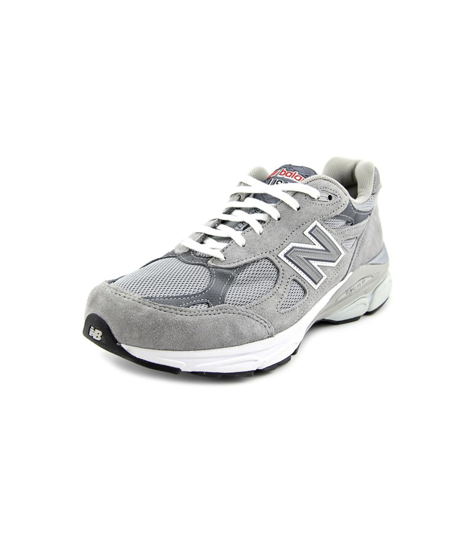 New Balance W990 Women  Round Toe Suede Gray Running Shoe In Grey