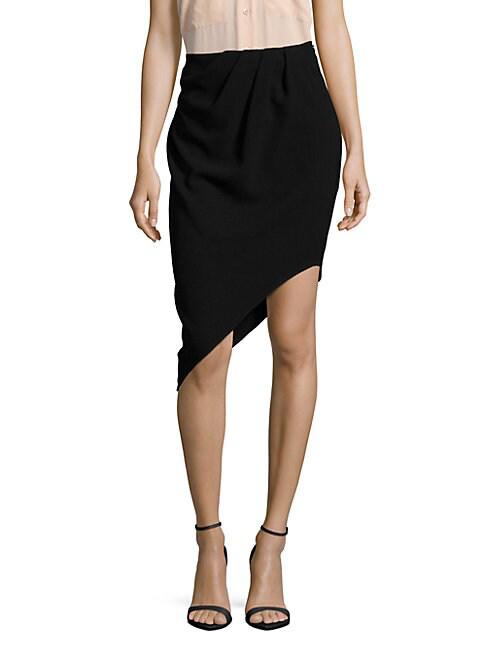 Haute Hippie Woman Asymmetric Layered Silk-chiffon Shorts Black