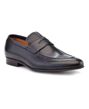 Ike Behar Men's Hand Made Loafer Men's Shoes In Black