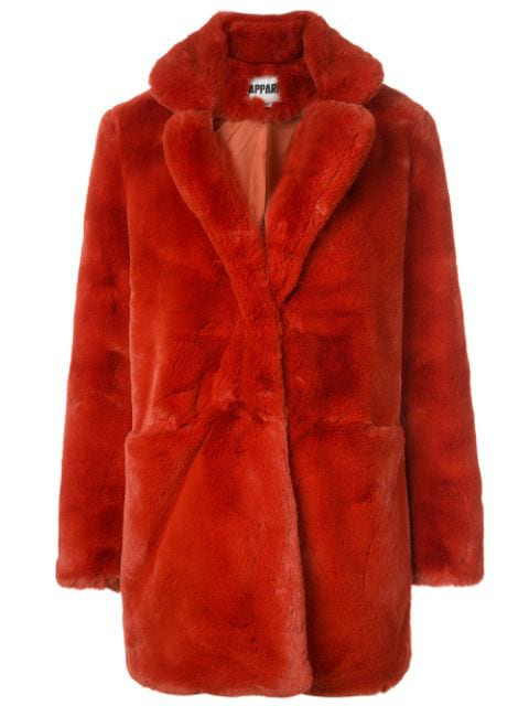 Apparis Eloise Faux-fur Coat, Created For Macy's In Red