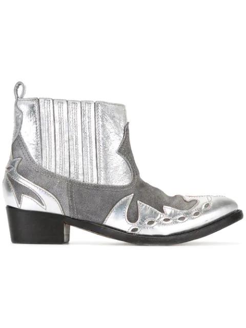 Golden Goose Clara Boots In Grey