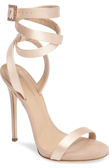 Giuseppe Zanotti Giuseppe For Jennifer Lopez 120 Satin Ankle-wrap Sandals In Beige Satin