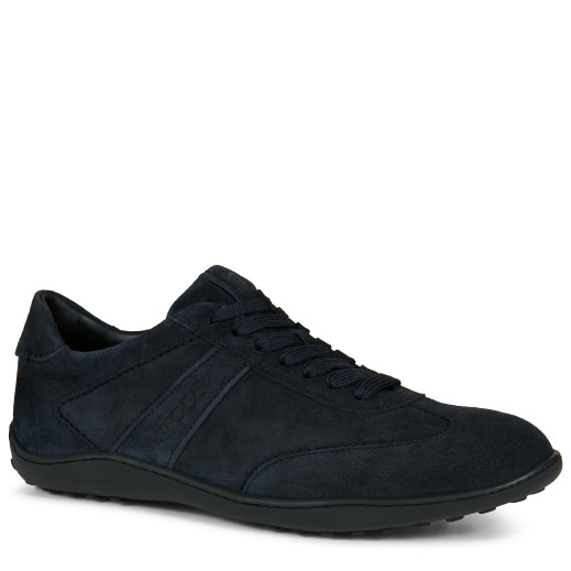 Tod's Sneakers In Suede In Blue