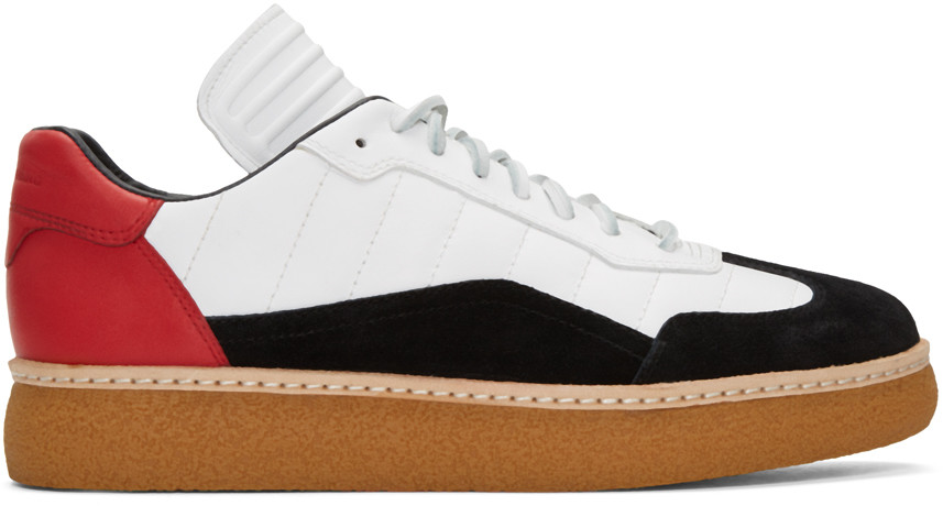 Alexander Wang Tricolor Leather & Suede Eden Sneakers In Multicolour