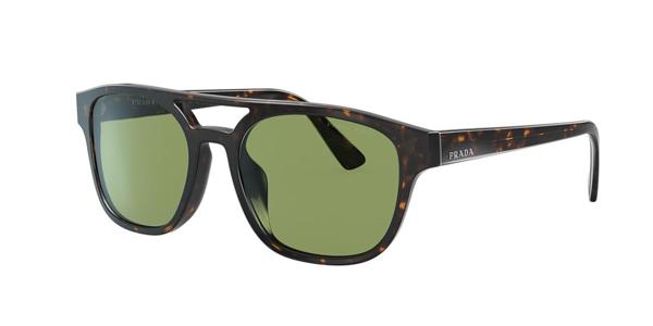 Prada Tortoiseshell Square Sunglasses In Green