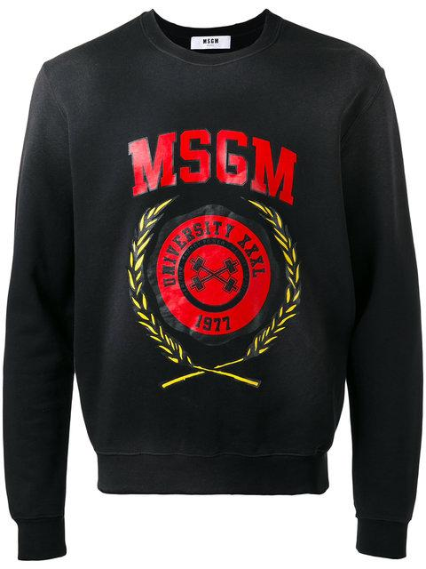 Msgm Logo Print Sweatshirt In 99