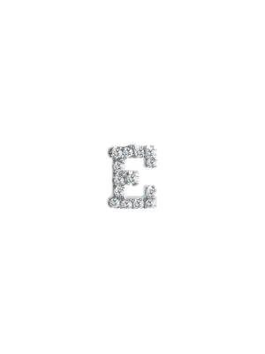 Meira T Women's 14k White Gold Diamond Intial Single Stud Earring In Initial E
