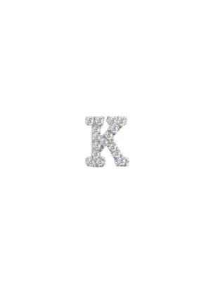 Meira T Women's 14k White Gold Diamond Intial Single Stud Earring In Initial K