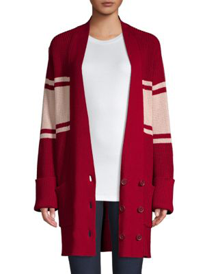 Joie Caleela Varsity Cardigan In Red