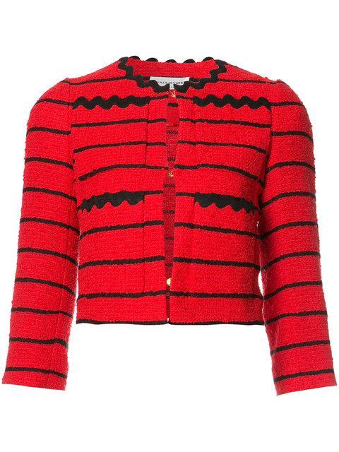 Sonia Rykiel Woman Striped Cotton-blend BouclÉ-tweed Jacket Red