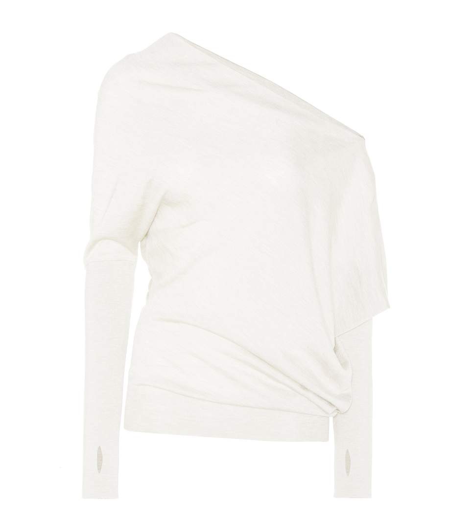 Tom Ford Cashmere And Silk Sweater In Chalk