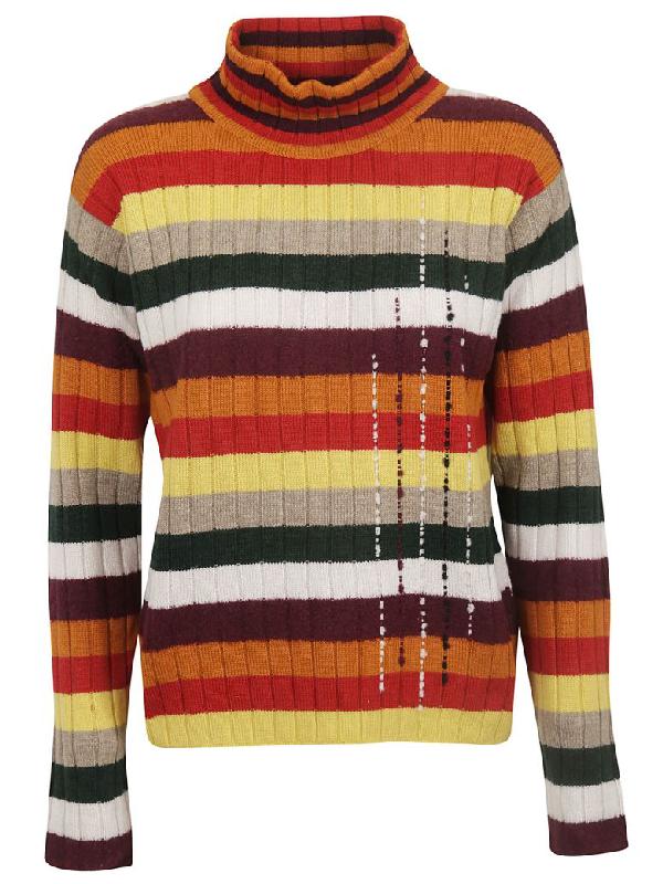 Saverio Palatella Striped Sweater In Multicolor