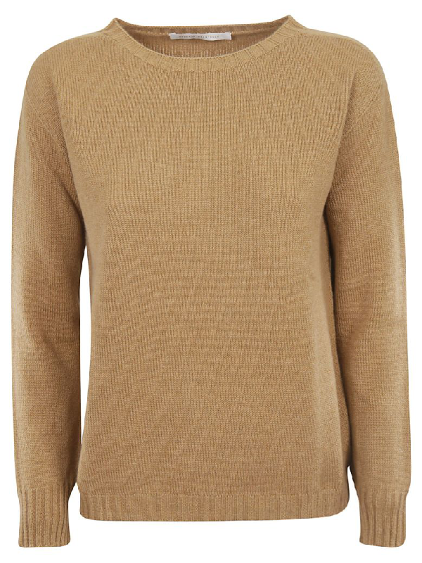 Saverio Palatella Knitted Sweater In Rhum