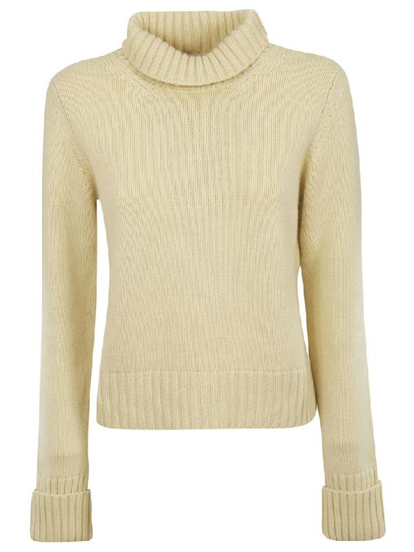 Saverio Palatella Knitted Sweater In Bone