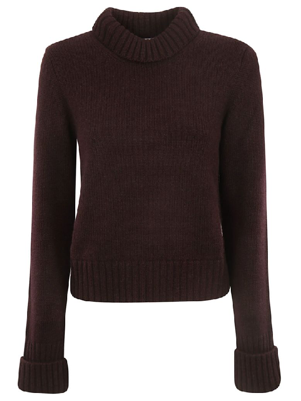 Saverio Palatella Knitted Sweater In Red