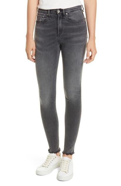 Rag & Bone Nina Faded High-Rise Skinny Ankle Jeans In Amory