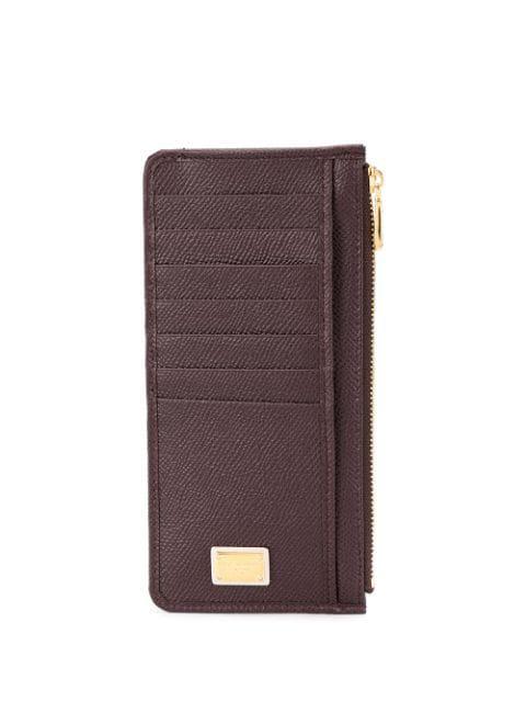 Dolce & Gabbana Logo Plaque Cardholder In Purple