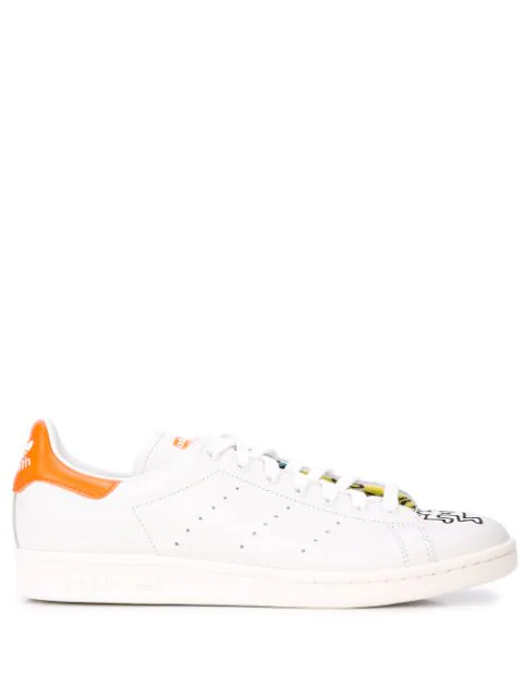 Adidas Originals Stain Smith Keith Haring Packer Sneakers In White