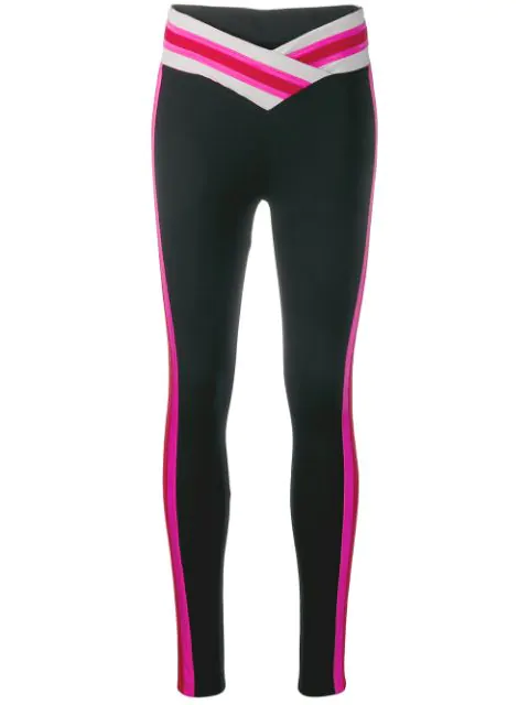 No Ka'oi Stripe Detail Leggings In Black