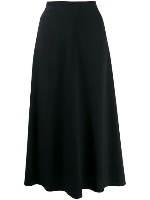 Forte Forte A-Line Midi Skirt In Notte 5012