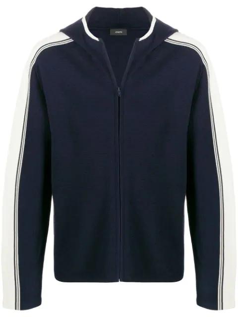 Joseph Sportwear Milano Knit Hoodie In Blue