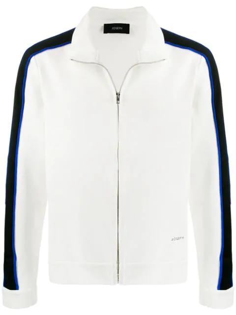 Joseph Sprint Jersey Track Jacket In White