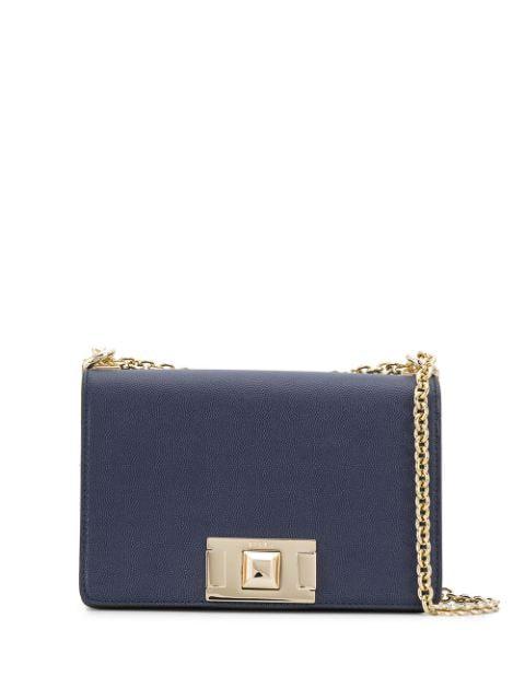 Furla Push-lock Cross Body Bag In Blue