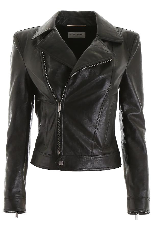 Saint Laurent Motorcycle Jacket In Black